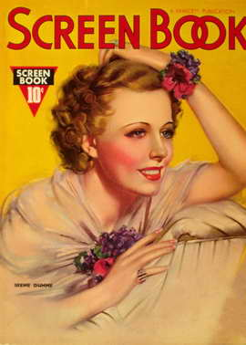 Irene Dunne - 11 x 17 Screen Book Magazine Cover 1930's