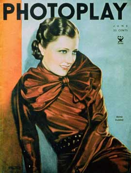 Irene Dunne - 27 x 40 Movie Poster - Photoplay Magazine Cover 1930's Style A