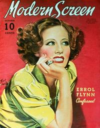 Irene Dunne - 27 x 40 Movie Poster - Modern Screen Magazine Cover 1930's Style B