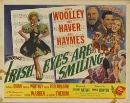 Irish Eyes Are Smiling - 22 x 28 Movie Poster - Half Sheet Style A