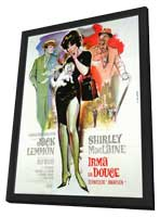 Irma La Douce - 11 x 17 Movie Poster - French Style A - in Deluxe Wood Frame
