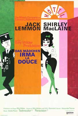 Irma La Douce - 27 x 40 Movie Poster - German Style A