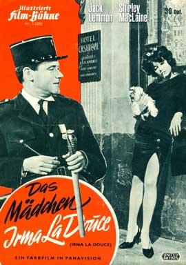Irma La Douce - 11 x 17 Movie Poster - German Style B