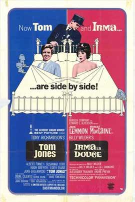 Irma La Douce/Tom Jones - 27 x 40 Movie Poster - Style A