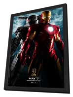 Iron Man 2 - 27 x 40 Movie Poster - Style B - in Deluxe Wood Frame