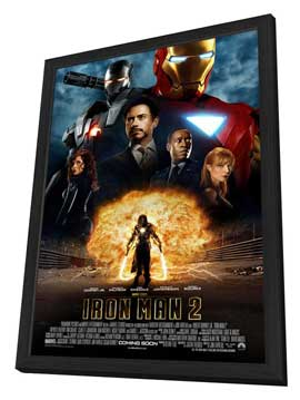 Iron Man 2 - 11 x 17 Movie Poster - Style K - in Deluxe Wood Frame