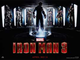 Iron Man 3 - DS British Quad 30 x 40 - Style A