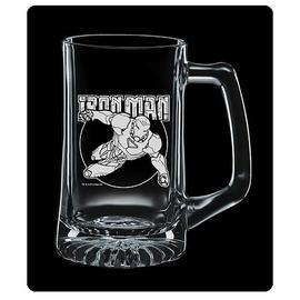 Iron Man - Premium Etched Glass Stein
