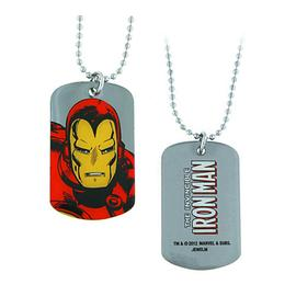 Iron Man - Up Close Dog Tag Necklace
