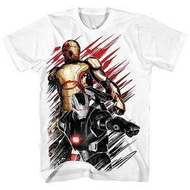 Iron Man - 3 Movie .50 Caliber White T-Shirt
