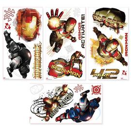 Iron Man - 3 Edgy Peel and Stick Wall Decals