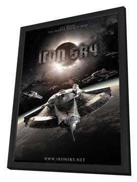 Iron Sky - 11 x 17 Movie Poster - Style C - in Deluxe Wood Frame