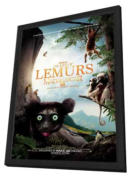 Island of Lemurs: Madagascar IMAX 3D - 27 x 40 Movie Poster - Style A - in Deluxe Wood Frame