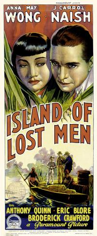 Island of Lost Men - 14 x 36 Movie Poster - Insert Style B