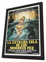 Island of the Fishmen - 27 x 40 Movie Poster - Argentine Style A - in Deluxe Wood Frame