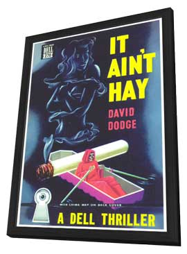 It Ain't Hay - 11 x 17 Retro Book Cover Poster - in Deluxe Wood Frame