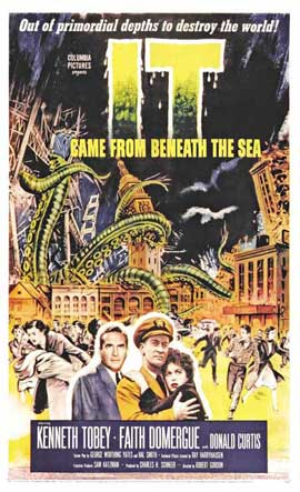 It Came from Beneath the Sea - 27 x 40 Movie Poster - Style B