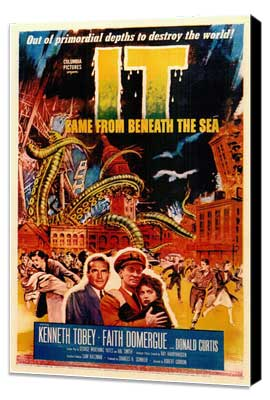 It Came from Beneath the Sea - 11 x 17 Movie Poster - Style A - Museum Wrapped Canvas