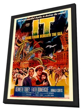 It Came from Beneath the Sea - 27 x 40 Movie Poster - Style A - in Deluxe Wood Frame