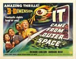 It Came from Outer Space - 30 x 40 Movie Poster UK - Style A