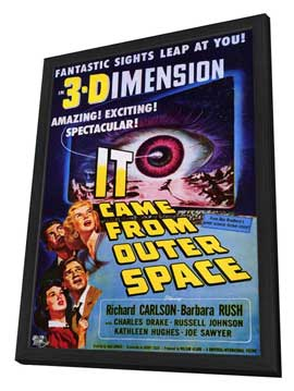 It Came from Outer Space - 27 x 40 Movie Poster - Style A - in Deluxe Wood Frame