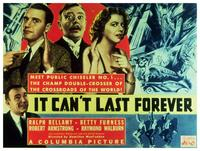 It Can't Last Forever - 11 x 14 Movie Poster - Style A