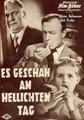 It Happened in Broad Daylight - 27 x 40 Movie Poster - German Style A