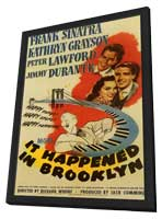 It Happened in Brooklyn - 11 x 17 Movie Poster - Style A - in Deluxe Wood Frame