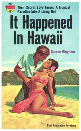 It Happened In Hawaii - 11 x 17 Retro Book Cover Poster