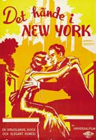 It Happened in New York - 27 x 40 Movie Poster - Swedish Style A
