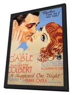 It Happened One Night - 11 x 17 Movie Poster - Style C - in Deluxe Wood Frame