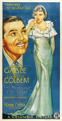 It Happened One Night - 41 x 81 3 Sheet Movie Poster - Style A