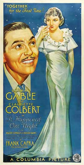 It Happened One Night - 27 x 40 Movie Poster - Style B
