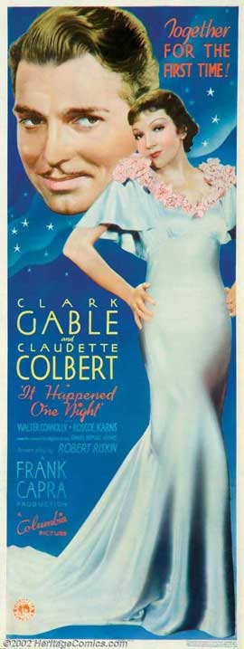 It Happened One Night - 11 x 17 Movie Poster - Style F