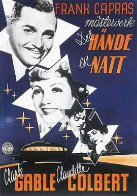 It Happened One Night - 11 x 17 Movie Poster - Swedish Style B