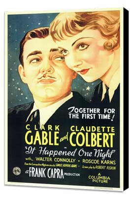 It Happened One Night - 11 x 17 Movie Poster - Style A - Museum Wrapped Canvas