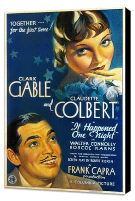 It Happened One Night - 27 x 40 Movie Poster - Style C - Museum Wrapped Canvas