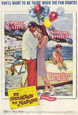 It Started in Naples - 27 x 40 Movie Poster - Style A