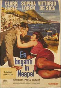 It Started in Naples - 11 x 17 Movie Poster - German Style A