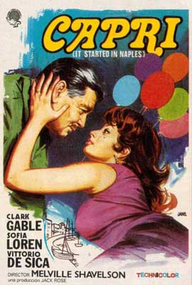 It Started in Naples - 11 x 17 Movie Poster - Spanish Style B