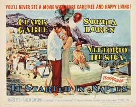 It Started in Naples - 22 x 28 Movie Poster - Half Sheet Style B