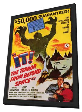 It! The Terror From Beyond Space - 27 x 40 Movie Poster - Style A - in Deluxe Wood Frame