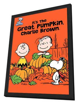 It's a Great Pumpkin Charlie Brown - 11 x 17 Movie Poster - Style A - in Deluxe Wood Frame
