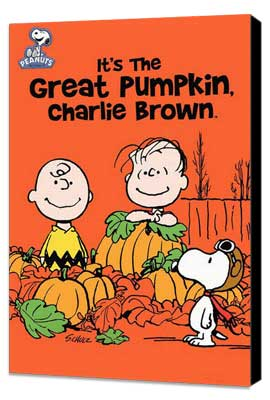 It's a Great Pumpkin Charlie Brown - 27 x 40 Movie Poster - Style A - Museum Wrapped Canvas
