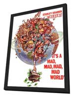 It's a Mad, Mad, Mad, Mad World - 11 x 17 Movie Poster - Style G - in Deluxe Wood Frame