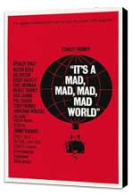 It's a Mad, Mad, Mad, Mad World - 27 x 40 Movie Poster - Style C - Museum Wrapped Canvas