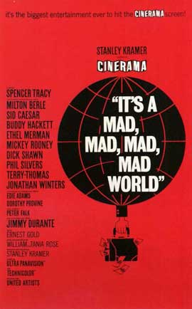 It's a Mad, Mad, Mad, Mad World - 11 x 17 Movie Poster - Style B