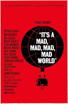 It's a Mad, Mad, Mad, Mad World - 11 x 17 Movie Poster - Style C