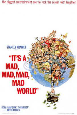 It's a Mad, Mad, Mad, Mad World - 27 x 40 Movie Poster - Style A