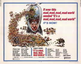 It's a Mad, Mad, Mad, Mad World - 22 x 28 Movie Poster - Half Sheet Style A
